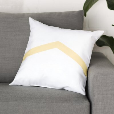 Down Throw Pillow Size: 16 H x 16 W, Color: Lemon