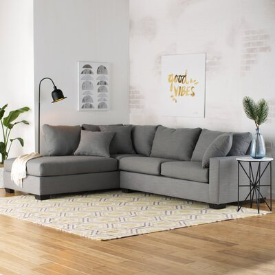 Hannah Sectional Upholstery: Charcoal
