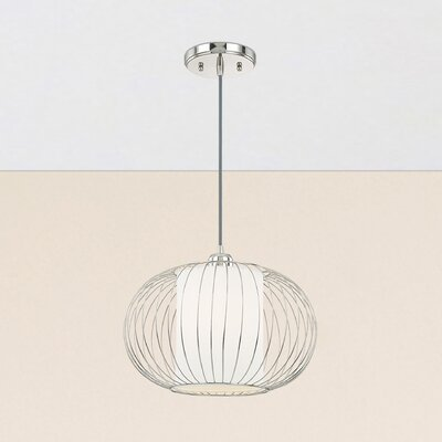 Abadie 1-Light Globe Pendant Finish: Polished Nickel