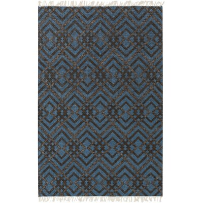 Varley Hand-Woven Blue Area Rug Rug Size: Rectangle 4 x 6