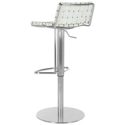 Agatha Adjustable Height Bar Stool Upholstery: White