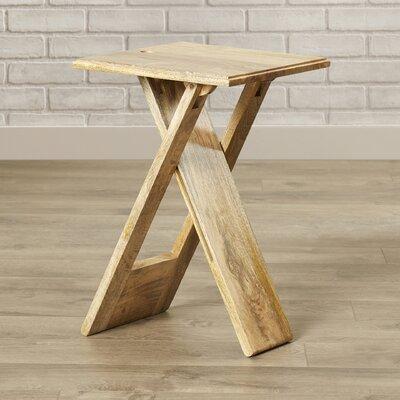 Artrip 19.25 Square Folding Table Finish: Natural