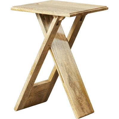 Davidson 19.25 Square Folding End Table Color: Natural
