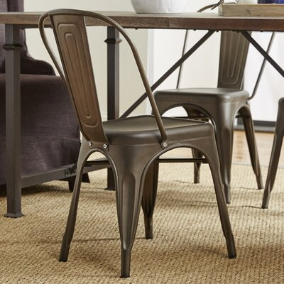 Alandra Side Chair Finish: Bronze