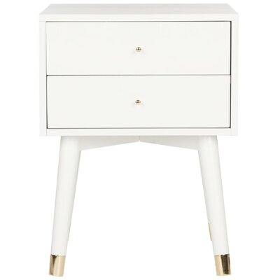 Ables 2 Drawer Nightstand Finish: White