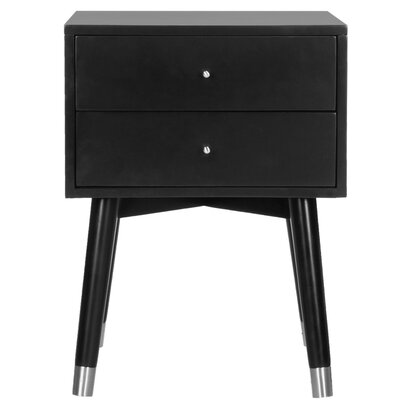 Ables 2 Drawer Nightstand Finish: Black