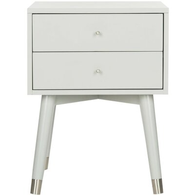 Ables 2 Drawer Nightstand Finish: Gray