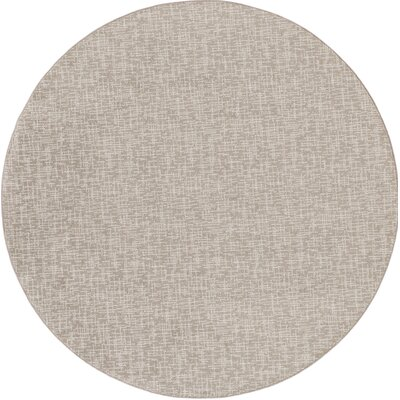 Braelyn Gray Indoor/Outdoor Area Rug Rug Size: Round 6