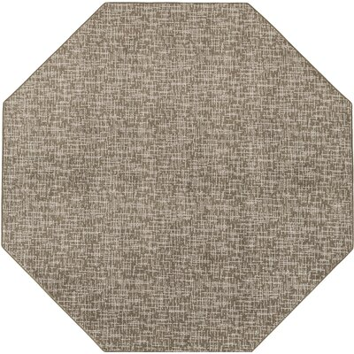 Cecilia� Brown Indoor/Outdoor Area Rug Rug Size: Octagon 6