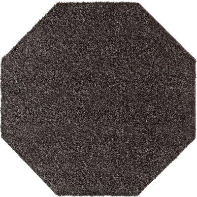 Apollonia Black Indoor/Outdoor Area Rug Rug Size: Octagon 6