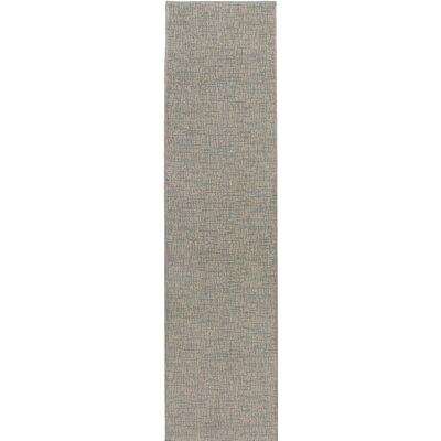 Hierius Blue/Gray Indoor/Outdoor Area Rug Rug Size: Runner 2 x 10