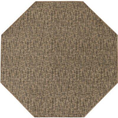Attalus Brown Indoor/Outdoor Area Rug Rug Size: Octagon 10