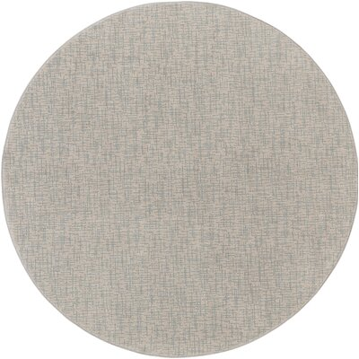 Hierius Blue/Gray Indoor/Outdoor Area Rug Rug Size: Round 6