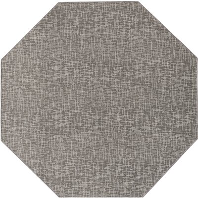 Braelyn Contemporary Gray Indoor/Outdoor Area Rug Rug Size: Octagon 6