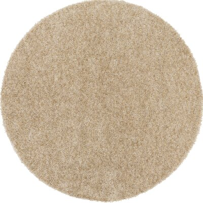 Dulcia Beige Indoor/Outdoor Area Rug Rug Size: Round 6