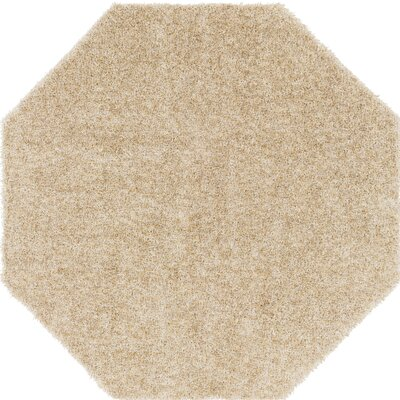 Dulcia Beige Indoor/Outdoor Area Rug Rug Size: Octagon 6