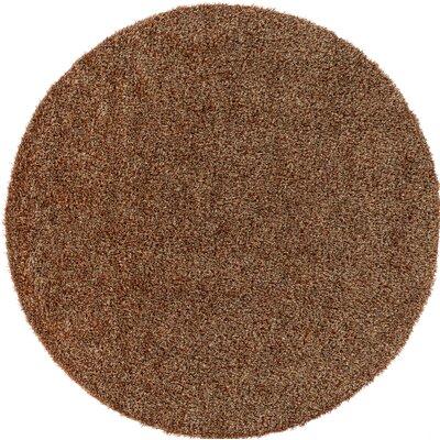 Megara Brown Indoor/Outdoor Area Rug Rug Size: Round 6