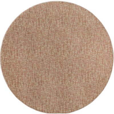 Beige Woven Indoor/Outdoor Area Rug Rug Size: Round 6