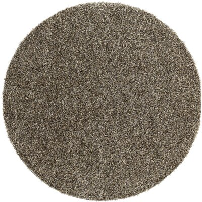 Dulcia Gray Indoor/Outdoor Area Rug Rug Size: Round 6