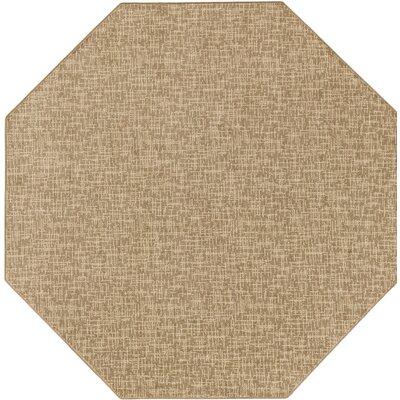 Beige Indoor/Outdoor Area Rug Rug Size: Octagon 6