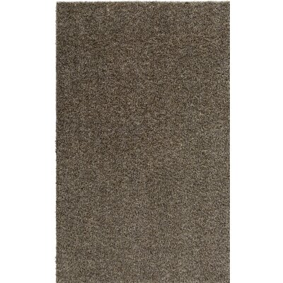 Dulcia Solid Gray Indoor/Outdoor Area Rug Rug Size: Round 8