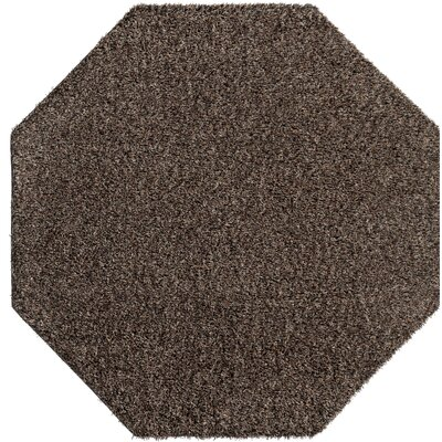 Birkholz Dark Brown Indoor/Outdoor Area Rug Rug Size: Octagon 6