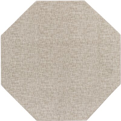 Gray Indoor/Outdoor Area Rug Rug Size: Octagon 6