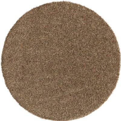 Brown Indoor/Outdoor Area Rug Rug Size: Round 6