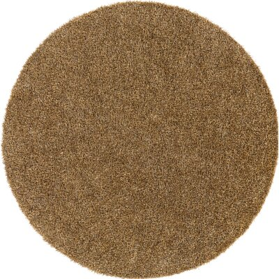 Dulcia Brown Indoor/Outdoor Area Rug Rug Size: Round 6