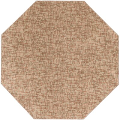 Beige Woven Indoor/Outdoor Area Rug Rug Size: Octagon 6