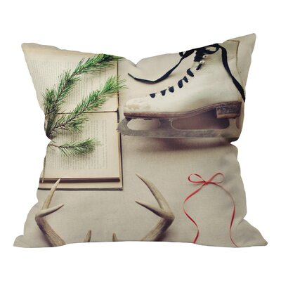 Bee Christmas Card Throw Pillow Size: Medium