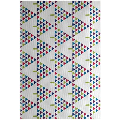 Christmass White Indoor/Outdoor Area Rug Rug Size: 4 x 6