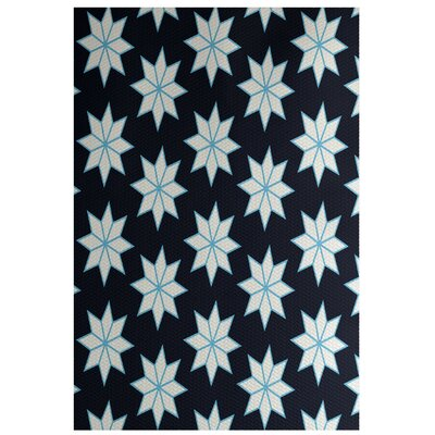 Christmass Geometric Blue Indoor/Outdoor Area Rug Rug Size: 4 x 6