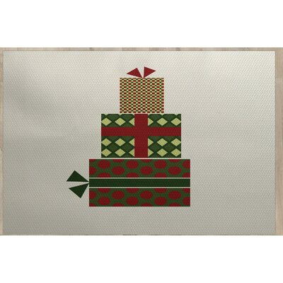 Christmass Gift Green Indoor/Outdoor Area Rug Rug Size: 4 x 6