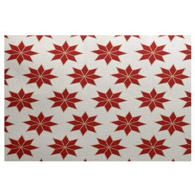 Christmass Red Indoor/Outdoor Area Rug Rug Size: 4 x 6