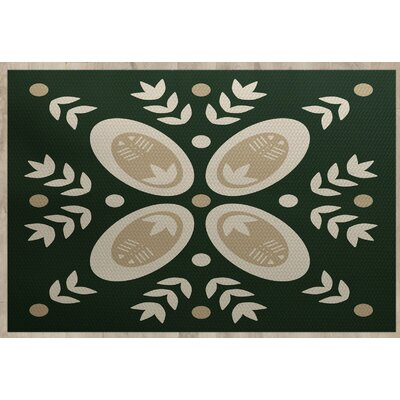 Mazee Green Indoor/Outdoor Area Rug Rug Size: Rectangle 3 x 5