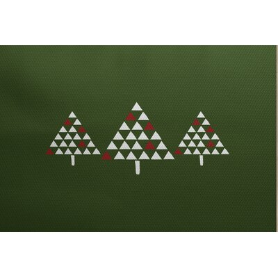 Christmass Trees Green Indoor/Outdoor Area Rug Rug Size: 5 x 7