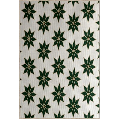 Christmass Geometric Green Indoor/Outdoor Area Rug Rug Size: 2 x 3