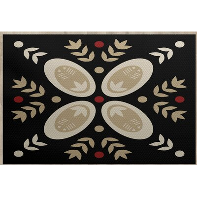 Mazee Black Indoor/Outdoor Area Rug Rug Size: 5 x 7
