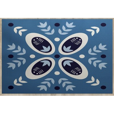 Mazee Blue Indoor/Outdoor Area Rug Rug Size: 4 x 6