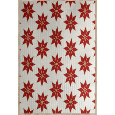 Christmass Geometric Red Indoor/Outdoor Area Rug Rug Size: 3 x 5