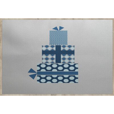 Christmass Gift Gray Indoor/Outdoor Area Rug Rug Size: 5 x 7