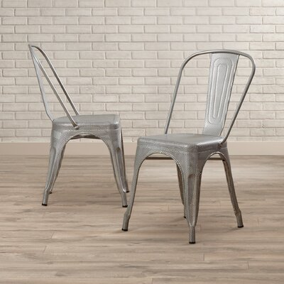 Uriarte Side Chair Finish: Silver