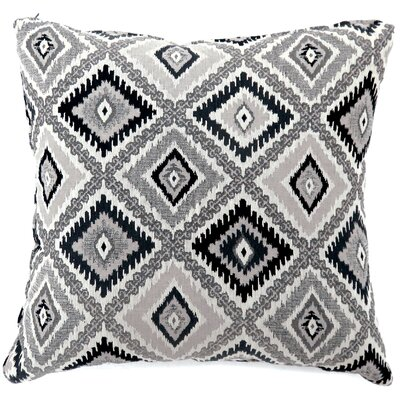 Van Tassell Diamond Print Throw Pillow Color: Black, Size: Large