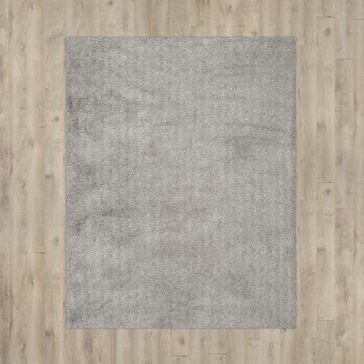 Vandeusen Hand-Tufted Silver Area Rug Rug Size: Rectangle 5 x 7