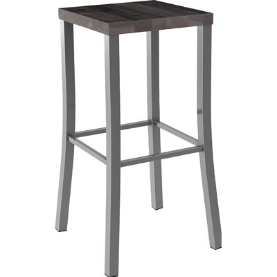 Athanas 30 Bar Stool Color: Glossy Grey/Medium Dark Gray