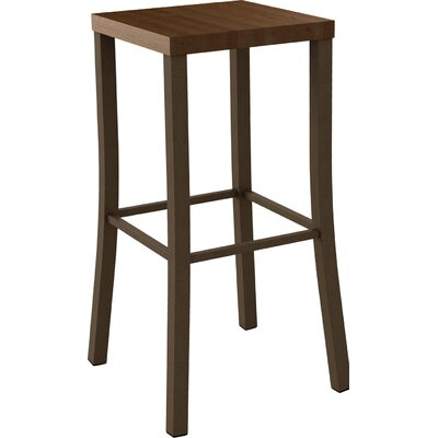 Athanas 30 Bar Stool Color: Hammered Medium Brown/Medium Brown