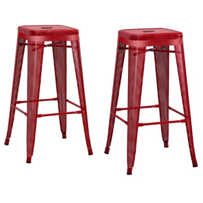 Uriarte 30 Bar Stool Finish: Red