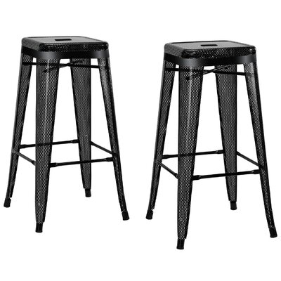 Uriarte 30 Bar Stool Finish: Black