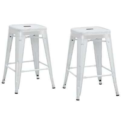 Uriarte 24 Bar Stool Finish: White
